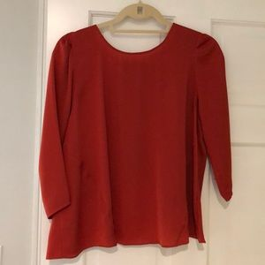 3/4 sleeve open back blouse